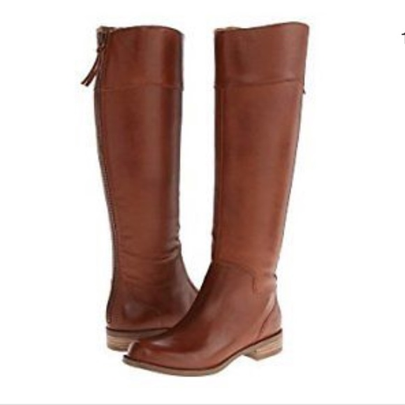 f272622f3ae0 Nine West Shoes   Tall Boot Counter Dark Natural Leather   Poshmark